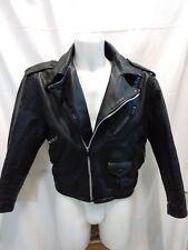 giacca jacket uomo vera pelle modello chiodo taglia 46