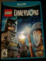 LEGO Dimensions (Nintendo Wii U, 2015) Video Game Complete w/ Manual TESTED