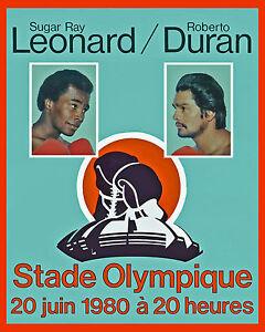 Leonard vs Durand, 1980 Fight Poster Montreal - 8x10 Color Photo