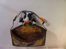 HANGING COW BASKET--MAIL HOLDER--COUNTRY--FARM-----FREE SHIP--NEW