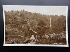 Staffordshire ALTON TOWERS View From Monument Old RP Postcard by Lilywhite AT12