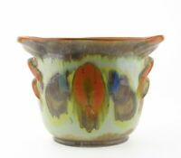 Art Deco Dümler & Breiden Höhr Keramik Übertopf 189/2 Laufglasur bunt Vintage