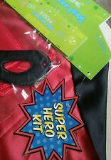 Super Hero Kit-cape,2 arm cuffs, and mask Halloween Costume For Kids