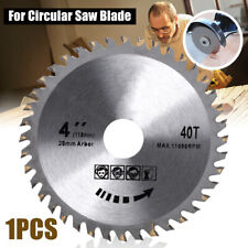 "110mm Circular Saw Blade Disc Wood Cutting 4"" 40 Teeth Fits for Angle Grinder NV"