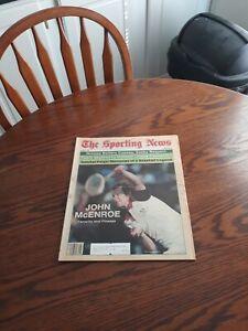 JUNE 21,1982-THE SPORTING NEWS-TENNIS GREAT JOHN McENROE(MINT)