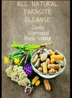 Parasite Cleanse Capsules Wormwood,Black Walnut Hull,Clove 100% Organic Non GMO