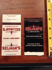 Lee Roy Selmon's Football Restaaurant Matchbook Cover Pair All American Grill