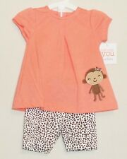 Carters Just One You Monkey Infant Girls Top and Leggings Outfit (SIZE 3 Months)
