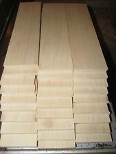 "THIRTY (30) THIN, KILN DRIED, SANDED MAPLE 12 X 3 X 3/8"" LUMBER WOOD"