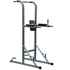 Power Tower Dip Station Pull Up Knee Raise Rack Home Body Fitness Exercise Gym