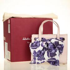 a93fab6ab4cf Salvatore Ferragamo Small Foulard Beige Jasmine Calf Leather Tote Shoulder  Bag