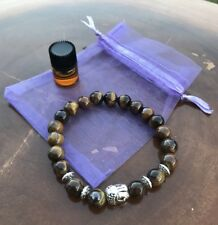 Essential Oil Healing Bracelet Buddha Brown Tiger Eye with
