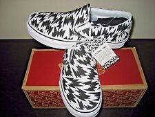 Vans Classic Slip On Womens Eley Kishimoto Flash Black White shoes size 7 NWT
