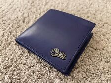 Ralph Lauren Leather Wallet With Coin Pocket - Blue - Genuine Leather - NEW