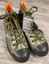 b59553a5b76a Converse Boys High Top Size 5 Camouflage Rubber Shoes Youth Green Black  Orange
