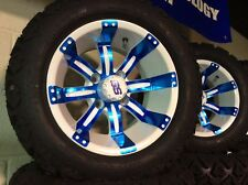 Golf Cart Wheel and Tire combo for LIFTED E-Z-GO 12inch CUSTOM SET OF 4 DEAL!!!