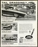 1959 Monroe Load Leveler Shock Absorbers PRINT AD Tail Dragging?