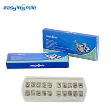 2 Packs EASYINSMILE Orthodontic Metal Bracket MBT/Roth Dental Brackets .018/.022