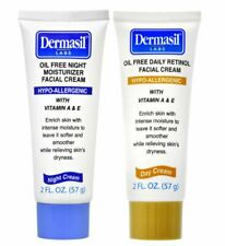 Dermasil Oil-Free Vitamin E Facial Cream Day and Night 2-oz Tubes. 2 Pack