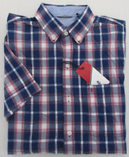 NWT IZOD Button Down Casual Shirt w/Pocket Short Sleeve Poplin Size S