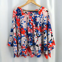 New Vince Camuto Womens Stitch Fix Colorful Career Shirt Top Blouse Sz M Medium