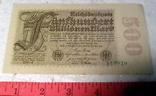 * 1923 German REICHSBANKNOTES * 500 MILLION marks * Genuine Money!!
