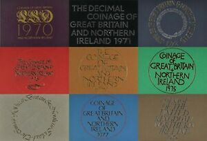 ROYAL MINT PROOF COIN YEAR SETS 1970 TO 1982 SELECT YOUR YEAR