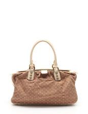 LOUIS VUITTON TrapezePM Monogram Mini Lin handbag canvas leather camel