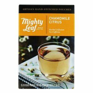 Mighty Leaf Whole Leaf Tea Pouches, Chamomile Citrus, 15 Tea Pouches