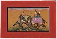 Mughal Miniature Moghul Battle Art Painting Water Color War Painting Mughal Art