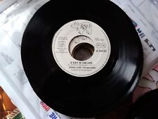 """7"""" PROMO BARRY GIBB THE BEE GEES A DAY IN THE LIFE (BEATLES) OH DARLING R. GIBB"""