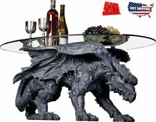 Best Coffee Table Dragon Oval Glass Top Ground Unique Home Furniture Sculpted HQ