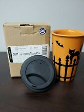 Longaberger 2011 Halloween Travel Cup / Mug With Lid Pottery