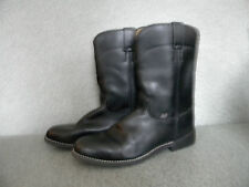 2000's Men's Black Western Boots By Justin Size:9 1/2D,used Very Good Condition