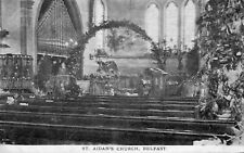 ST. AIDANS CHURCH OF IRELAND BELFAST ANTRIM POSTCARD by BAIRD
