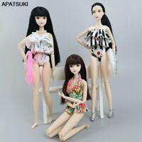 "Fashion Summer Floral Bikini For 11.5"" Doll Clothes Swimwear & Buoy Swimsuit 1/6"