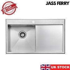 JASS FERRY New 1.2mm Handmade Stainless Steel Kitchen Sink Right Hand Drainer