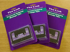 ✅ 3 x The Link 30 Second Endless Loop Answering Machine Message Cassette Tape