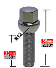 Wheel Lug Bolt-Lug Bolt Ball Seat 17mm Hex 14mm 1.50 x 33mm.
