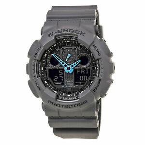New G-Shock GA100C-8A Men's Watch Grey Black Dial Black Strap