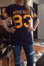 Vintage Champion Notre Dame Fighting Irish Football Shirt Size M Rare Women's