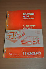 Werkstatthandbuch MAZDA 626 Station Wagon Verkabelungsdiagramm 1990 Linkslenker