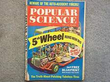1961 POPULAR SCIENCE MAY  5TH WHEEL RUNS NEW BUS  STOPS IT TOO  BLUEPRINT YARD T