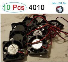 10 pcs Gdstime Fan 4010 12V 9 Blades 2Pin 3D printer PC Fan micro jst pin