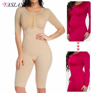 UK Bodysuit Body Shaper Post Surgery Seamless Compression Garment Full Shapewear