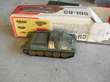 Vintage Russia Made 1/43 Scale Diecast CY 100 Army Tank in Box