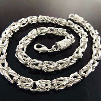 Necklace Chain Real 925 Sterling Silver S/F Solid Ladies Antique Celtic Link