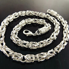 A928 GENUINE REAL 925 STERLING SILVER SF SOLID ANTIQUE STYLE NECKLACE CHAIN
