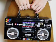 Timmy Woods SWAROVSKI CRYSTAL PAVE RADIO BOOM BOX Bag Collectible Signed Handbag