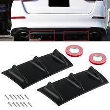 "2pcs 14""x6"" Universal Black ABS Rear Bumper 3 Shark Fin Spoiler Wing Diffuser"